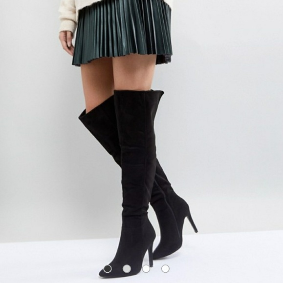 a8269262e1e Truffle Collection Thigh High Stiletto Boot